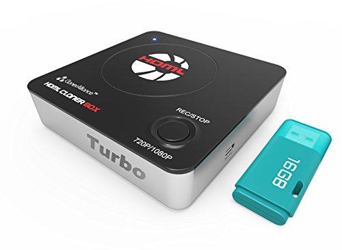 HDML-Cloner Box Turbo, 1080p HDMI-Aufnahmegerät und Videorekorder-Box der nächsten Generation. Live-Streaming, zeitgesteuerte Aufzeichnung Hi-Spped-Kommunikationsport. 16 GB Flash-Laufwerk enthalten.