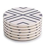 LIFVER 6-teilige Absorbent Stone Coaster Set,