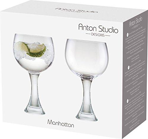 Anton Studio Designs Manhattan Gin Glasses, Transparent, Set of 2