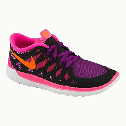 Nike  Free 5.0, Chaussures de running femmes Persian Violet/Black-Aluminum-Fuchsia Glow
