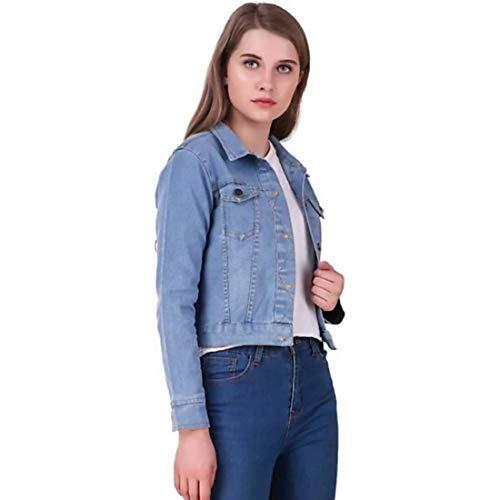KING-DENIM Shree Kmt Enterprises Full Sleeves Comfort Fit Regular Collar Blue Jacket for Women | Denim Jacket for Women | Summer Jacket for Women | Jackets for Women Jacket for Women
