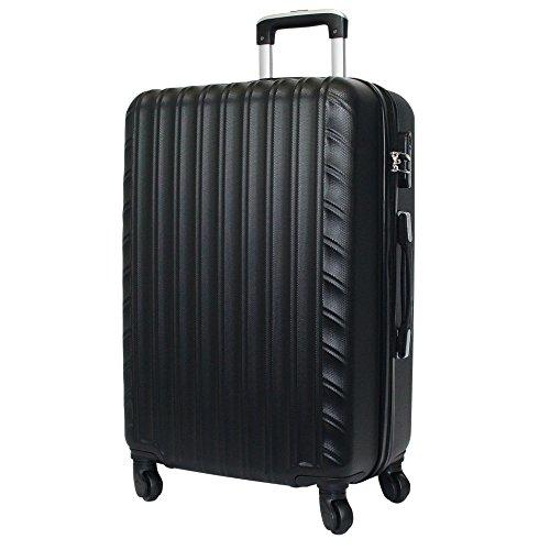 Reisekoffer QTC ZÜRICH Hartschale Trolley XL Reise Koffer Case (Schwarz)