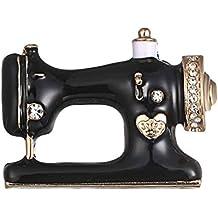 Kongnijiwa Única máquina de Coser de la Broche del Pin de Las Mujeres broches de Esmalte