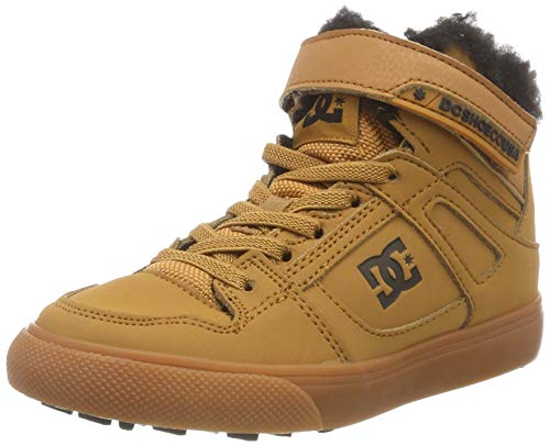 Dc-jungen Skate Schuhe (DC Shoes Jungen Pure HIGH TOP Winter Skateboardschuhe, Braun (Wheat We9), 29 EU)