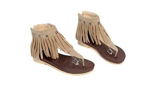 Beauqueen Sandalen Flip & Flop Tangas Frauen Sommer Quaste weiblich Casual Schuhe Special Größe Europa 34-39 , yellow , 37 Mädchen Tennis Kleidung Nike