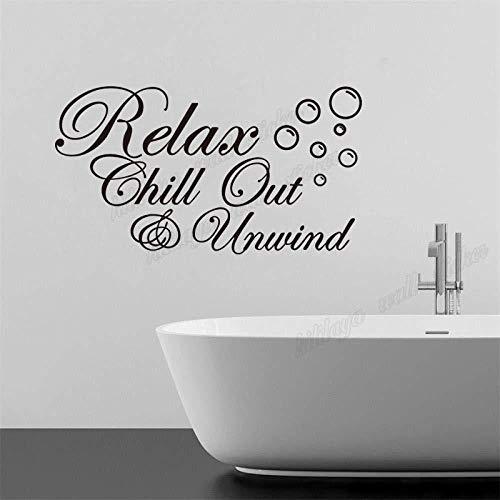YAZCC DIY Vinyl Wandaufkleber für Badezimmer Entspannende Chill Out Entspannen Mit Blasen Wandaufkleber Wandhauptdekor Kunst Tapete 30x55 cm -
