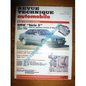 Descargar Libro RTA0521 - REVUE TECHNIQUE AUTOMOBILE BMW SERIE 5 520i - 525i - 524td Essence et Diesel depuis 1989 de ETAI