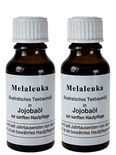 Melaleuka in Jojobaöl (Teebaumöl) - 2 x 20ml (Melaleuka alternifolia)