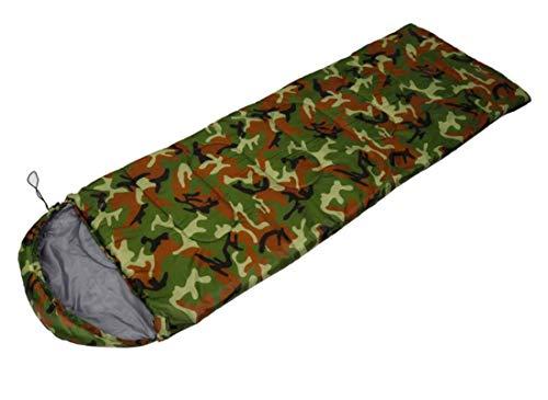 Beneyond Camouflage-Schlafsack, Schlafsack im Umschlagstil mit Hut, 0~15 ° C, Unverzichtbar für alle Jahreszeiten