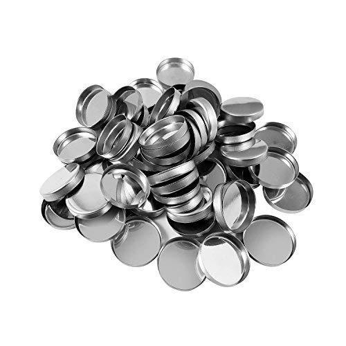 Allwon 56 Pack leere Runde Metallpfannen für Lidschatten-Palette Magnetische Make-up-Palette (26mm)