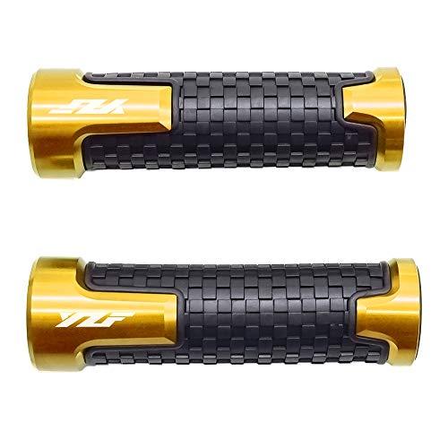 Preisvergleich Produktbild 22mm 7 / 8'' Motorrad Lenkergriffe Griff Griffgummis Für Yamaha YZF R1 R3 R6 R6S R25 R125 600R Gold