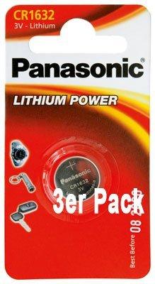 Typ CR 1632 Lithium 3 Volt - im 3er-Sparpack - neueste Produktion ()