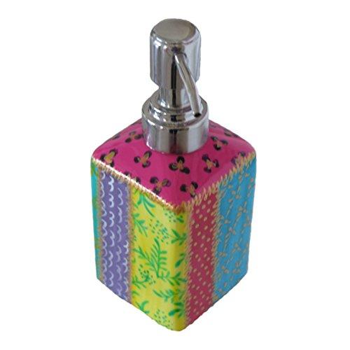 Dispenser decorativo e dosatore per sapone liquido in porcellana dipinta a mano con il design (Dispenser Di Sapone Fine)