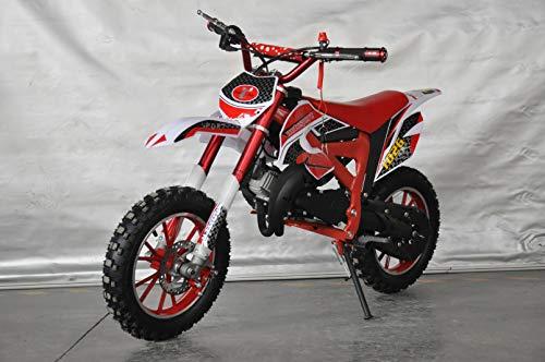 Pocket bike cross, Mini Pitbike avec moteur 49 cc 2 temps, XTM Team CrossMini dirt bike.Mini moto cross. 112x35x58 cm rouge