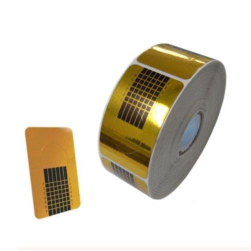 Agoratec - Pochoirs à ongles or - 500 pièces - Nail Art Design pour la conception des ongles artificiels avec des gels UV