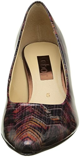 Gabor Fashion, Escarpins Femme Multicolore (Black/Chianti 95)