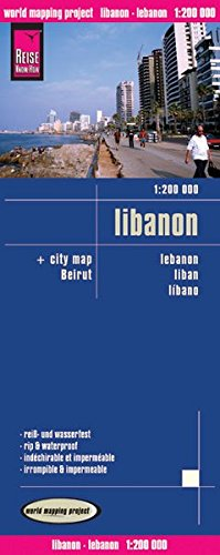 Reise Know-How Landkarte Libanon (1:200.000) mit Stadtplan Beirut: world mapping project
