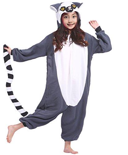 l Tier Cospaly Kostüme Schwarzbinden Lemur Geeignet für Hohe 106-148 CM (Lemur Kostüm Kinder)