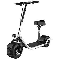 SABWAY® Patinete Eléctrico Adulto con Asiento Chopper Harley Mini 500W - Scooter con Silla