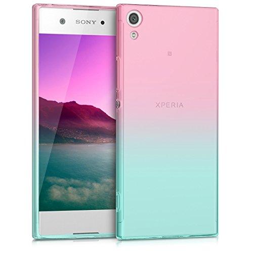 kwmobile Sony Xperia XA1 Hülle - Handyhülle für Sony Xperia XA1 - Handy Case in Pink Blau Transparent