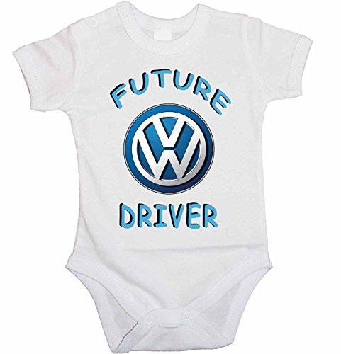 body-de-bebe-vw-logo-future-driver-body-manches-courtes-blanc