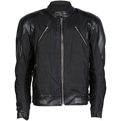 Chaqueta de motociclismo para hombre - Con protectores - Tela y cuero - EU 50 / contorno de pecho 101,5cm / M