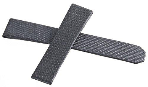 Tag Heuer dunkelgrau Stoff Leder Uhrenarmband 17mm