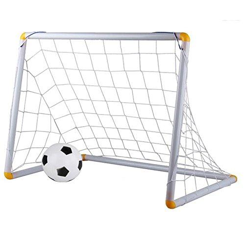 Wgwioo Mini Folding Fußball Fußball Tor Post Net, Für Kinder Kleinkinder Indoor Outdoor Hinterhof Spielzeug,White,78X50x59cm