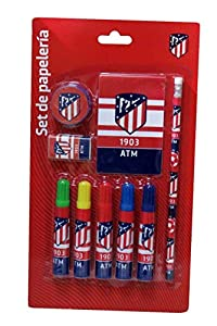 Set papeleria Atletico Madrid 9pz