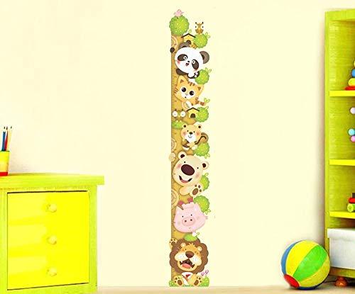 ufengke® Cartone Animato Gatto Leone Panda Adesivi Murali Con Metri (0-180 Cm), Camera dei Bambini Vivai Adesivi da Parete Removibili/Stickers Murali/Decorazione Murale