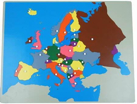großes Europa-Puzzle - Mit Montessori-Material Europa entdecken, ca. 57 x 44 cm