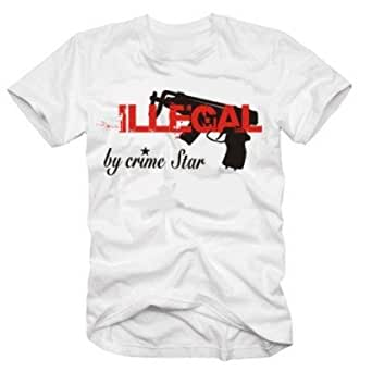 ILLEGAL by CRIMESTAR t-shirt blanc front