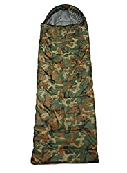 ALL SEASONS Good Quality Waterproof Adult Sleeping Bag for Camping, Hiking and Adventure Trips - Size: Adult (220 x 70 cm) - Color: Camouflage