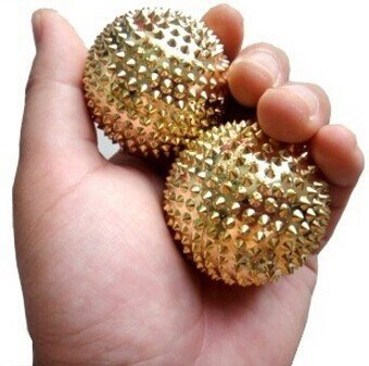 """Acu-Ball Massaging Needle Balls ONE Pair for Palm with TWO SuJok Rings for Finger BY ESCOR Byzantine International Private Limited -- """"Super INDIA Store"""""""