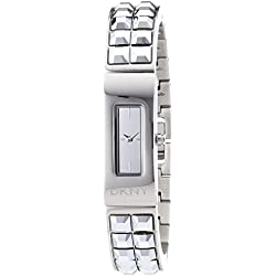 DKNY Women's Quartz Watch with White Dial Analogue Display and Silver Stainless Steel NY2227