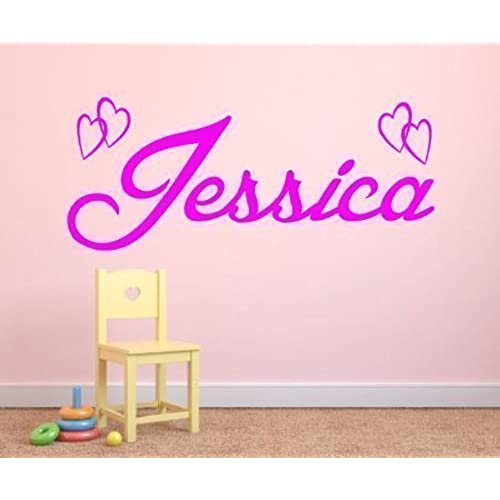 Personalised custom name vinyl wall art sticker any name 3 sizes 16 colours f5 3 large 100 cm long