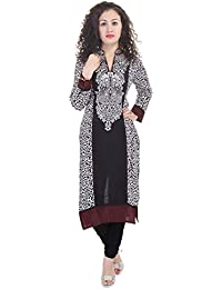 The Style Story Black Embroidered Kurti