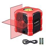 Niveau Laser Croix Laser Horizontal et Verticale Auto-nivellement Laser Level 10M avec niveau à bulle de type C chargeant IP54 étanche
