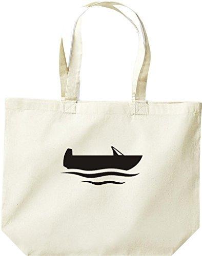 grande borsa della spesa, SHOPPER barca da pesca, Stivale, CAPITANO Naturale