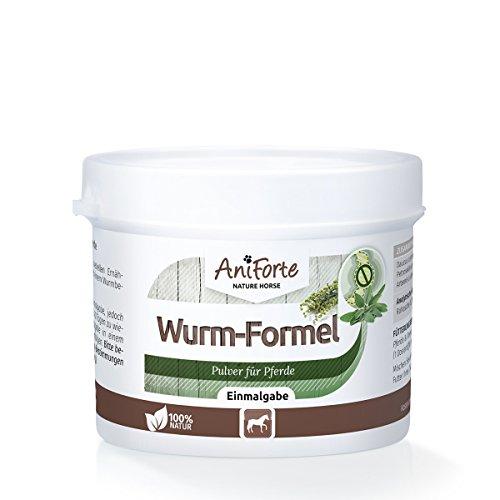 AniForte Wurm-Formel 50 g Einmalgabe für Pferde und Ponys, praktische und 100 Prozent natürliche Einmalgabe bei und nach Wurmbefall