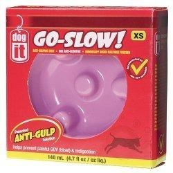 hundeinfo24.de DOGIT Go-Slow Anti-Schling-Napf Rosa 140 ml, Wassernapf, Fressnapf