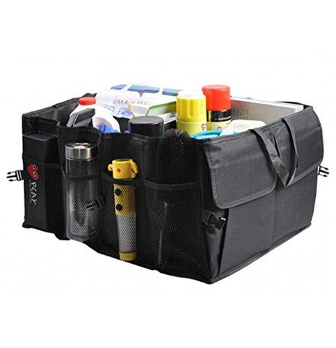 Preisvergleich Produktbild Foldable Car Trunk Storage Organizer Oxford Cloth Reserve Aufbewahrungsbox Universal Fit Multiple Taschen Finishing Tasche 2 Stück