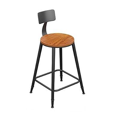 Hocker YANFEI Bar Stuhl Vintage Industrial Style Eisen + Massivholz Kaffee Bank Küchenstuhl von YANFEI - Gartenmöbel von Du und Dein Garten