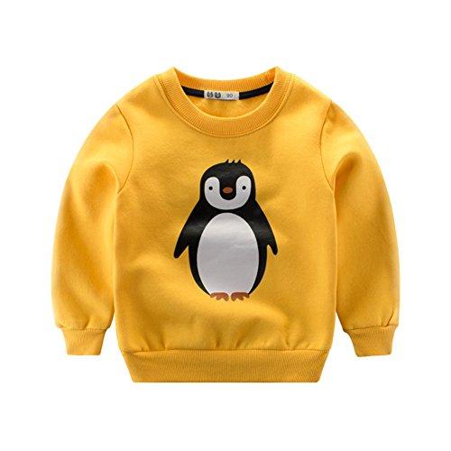 Baby Kinder Pullover Sweatshirt Mädchen Junge Süß Tier Fleecepullover Herbst Frühjahr kinderkleidung Babykleidung 5-6T Pinguin