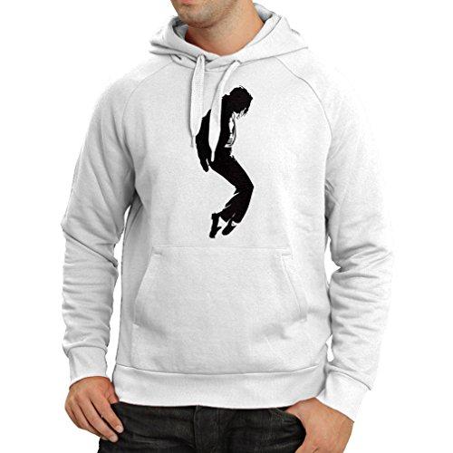 Kapuzenpullover Ich liebe MJ - Fanclub Kleidung, Konzert Kleidung (Medium Weiß Schwarz) (- Drake Herren-basketball)