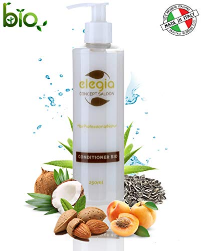Shampoo e Balsamo Biologico Bio  Per Tutti i Tipi di Capelli  Olio di Cocco - Olio di Albicocca - Olio di Rosmarino - Olio di Mandorle - Burro di Karitè  Made in Italy  250 ml (Balsamo)