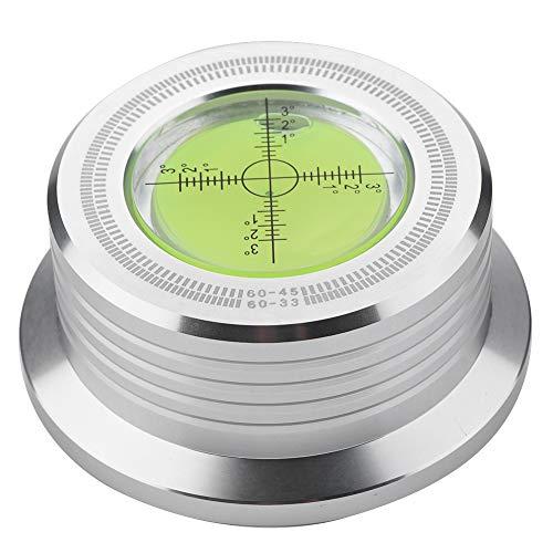 Plattenspieler Disc Record Gewicht,ASHATA 60Hz Schallplatten Plattenstabilizer Auflagegewicht,Aluminium Plattenklemme LP Disc Stabilizer Drehscheibe für ausgeglich Schallplattenauflagegewicht(Silber)