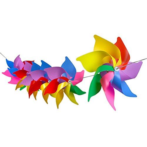 Regenbogen, Windrad-Design, für Party, Hochzeit, Halloween, Weihnachten ()