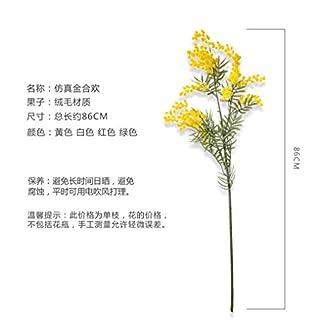 WES Simulación de flores decorativas artificiales Acacia Flor falsa Decoración interior del hogar Decoración de flores Decoración de la sala de estar Flores florales Los productos incluidos: flores