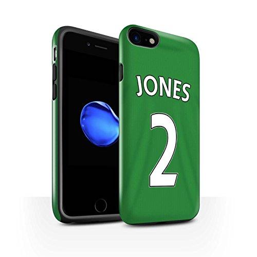 Offiziell Sunderland AFC Hülle / Glanz Harten Stoßfest Case für Apple iPhone 7 / Larsson Muster / SAFC Trikot Away 15/16 Kollektion Jones